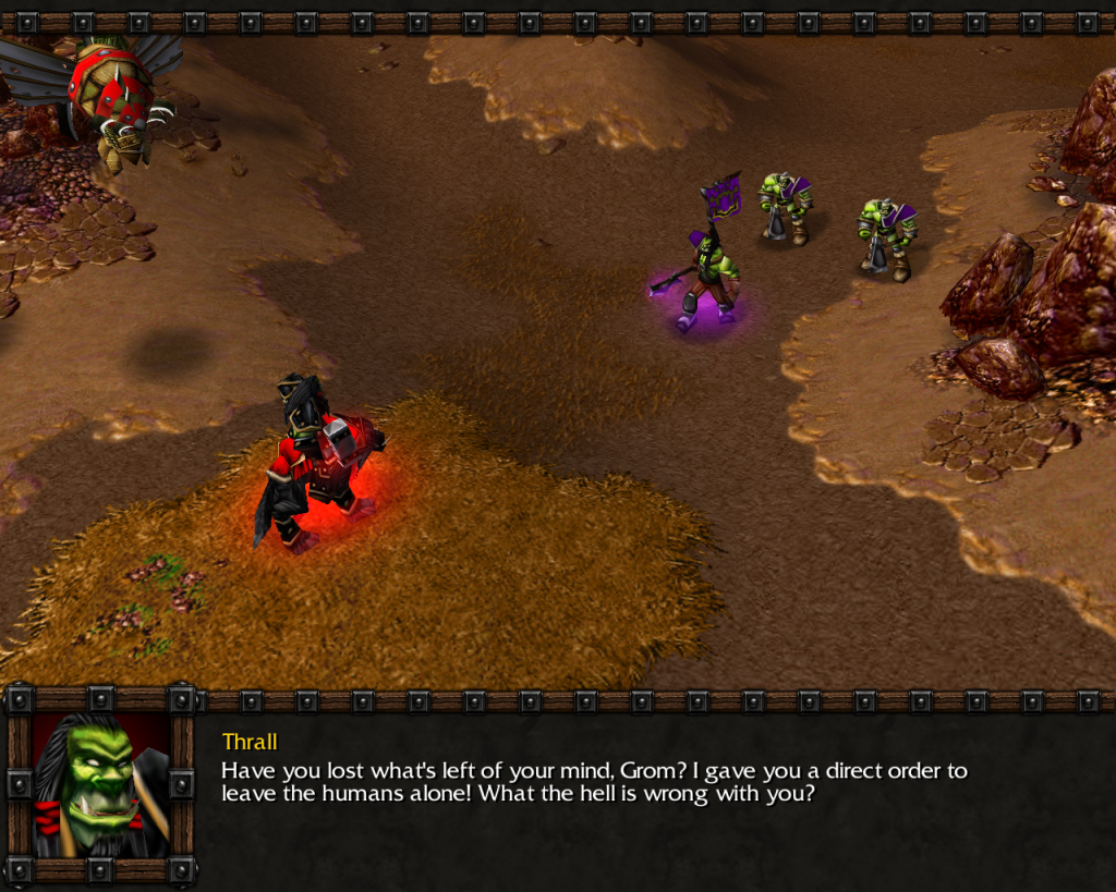 Orc campaign in Warcraft 3, in a nutshell