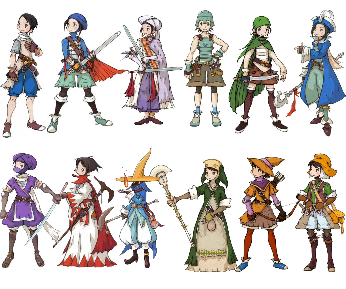 Game Design Character Classes : Good games that are final fantasy tactics advance