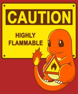 charmander caution